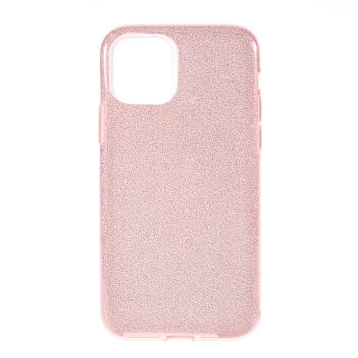 Husa silicon 3 in 1 cu sclipici Iphone 11 -Rose 0