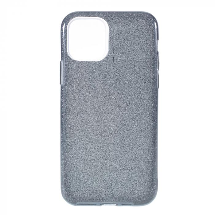 Husa silicon 3 in 1 cu sclipici Iphone 11 - Negru 0