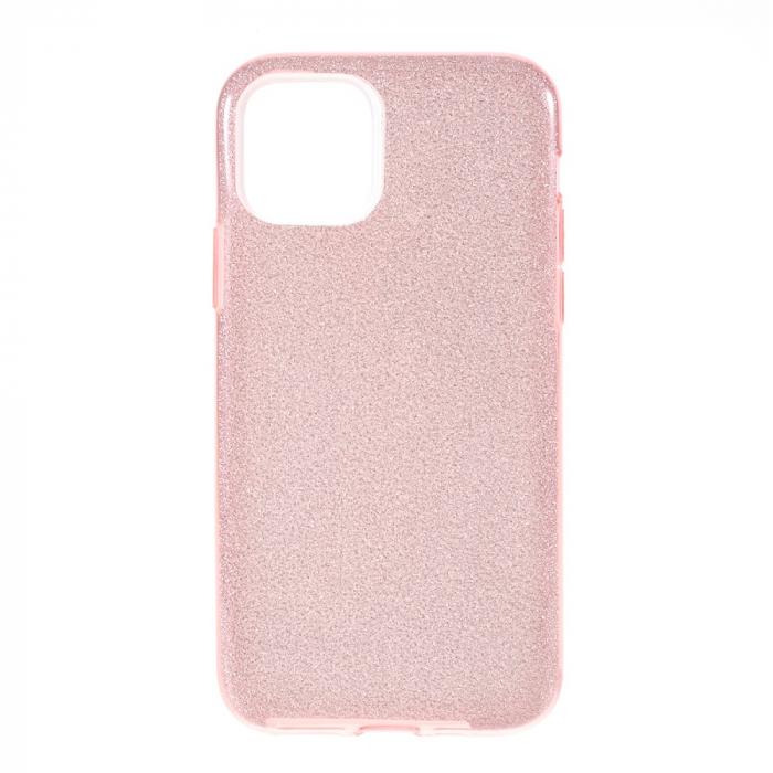 Husa silicon 3 in 1 cu sclipici Iphone 11 Pro - Rose [0]