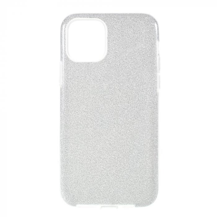 Husa silicon 3 in 1 cu sclipici Iphone 11 Pro - Silver 0