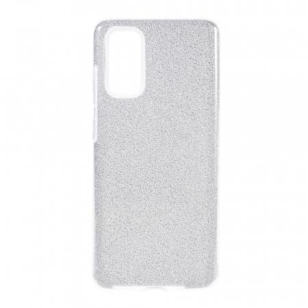 Husa silicon 3 in 1 cu sclipici Iphone 7 plus - Silver [0]