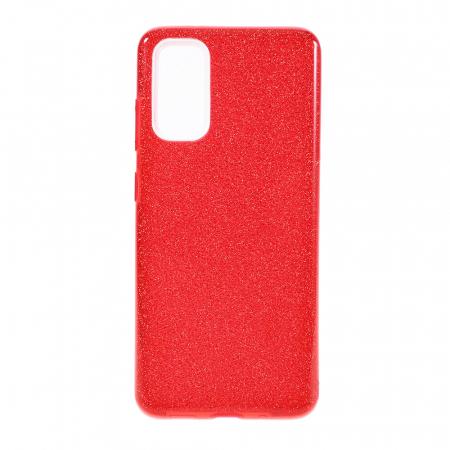 Husa silicon 3 in 1 cu sclipici Iphone 7 plus - Rosu [0]