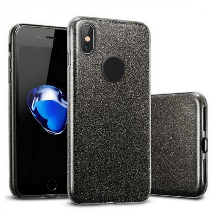 Husa silicon 3 in 1 cu sclipici Iphone X/Xs - 4 culori 0