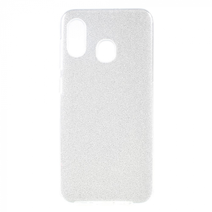 Husa silicon 3 in 1 cu sclipici Samsung A20e -Silver [0]