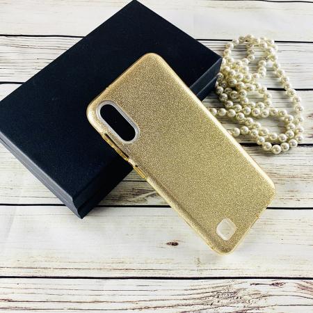 Husa silicon 3 in 1 cu sclipici Samsung A40 - Gold [0]
