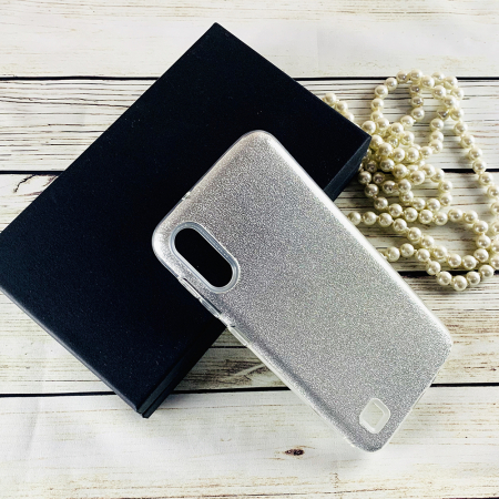 Husa silicon 3 in 1 cu sclipici Samsung A40 - Silver [0]