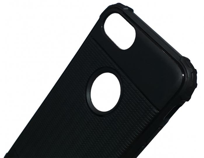 Husa silicon anti shock cu striatii Iphone 8 plus, Albastru 3