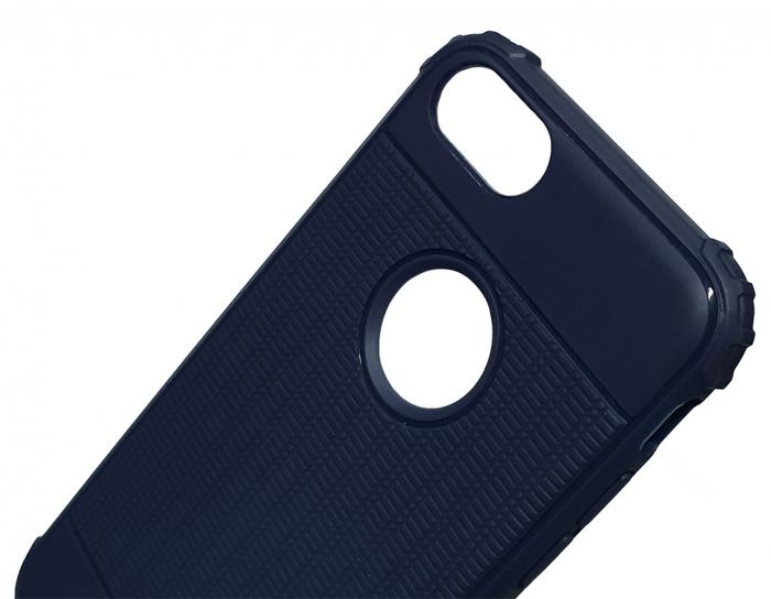 Husa silicon anti shock cu striatii Iphone 8 plus, Albastru 2