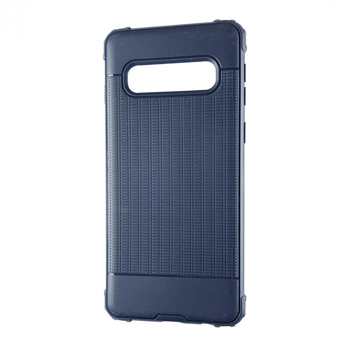 Husa silicon anti shock cu striatii Samsung S10, Albastru 0