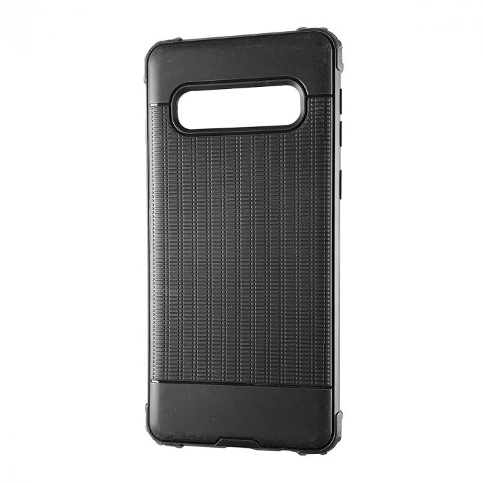 Husa silicon anti shock cu striatii Samsung S10E - Negru [0]