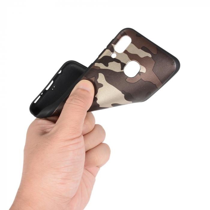 Husa silicon army Samsung A20e - Maro 1