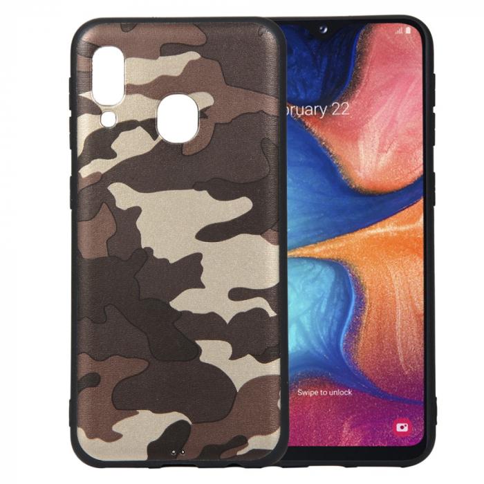 Husa silicon army Samsung A20e - Maro 0