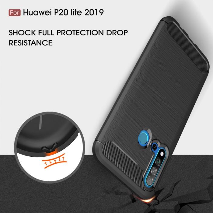 Husa silicon carbmat Huawei P20 Lite (2019) 2