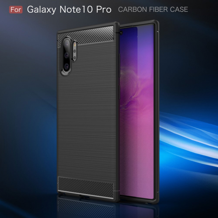 Husa silicon carbmat Samsung Note 10 plus 1