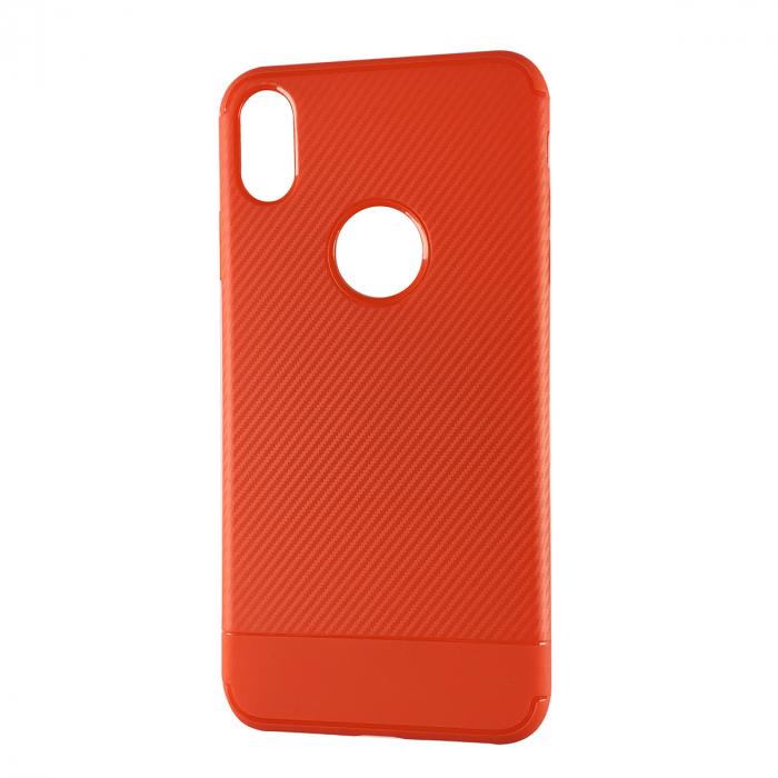 Husa silicon carbon 2 Iphone Xs Max - Rosu 0