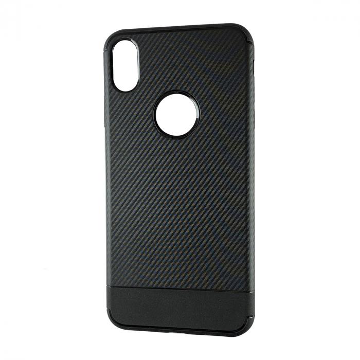 Husa silicon carbon 2 Iphone Xs Max -Negru 0