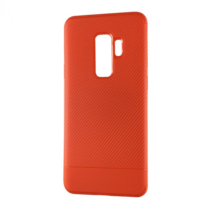 Husa silicon carbon 2 Samsung S9 - Rosu 0