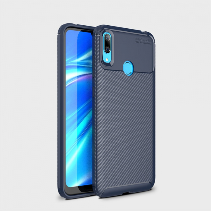 Husa silicon carbon 4 Huawei P30 lite - Albastru 1