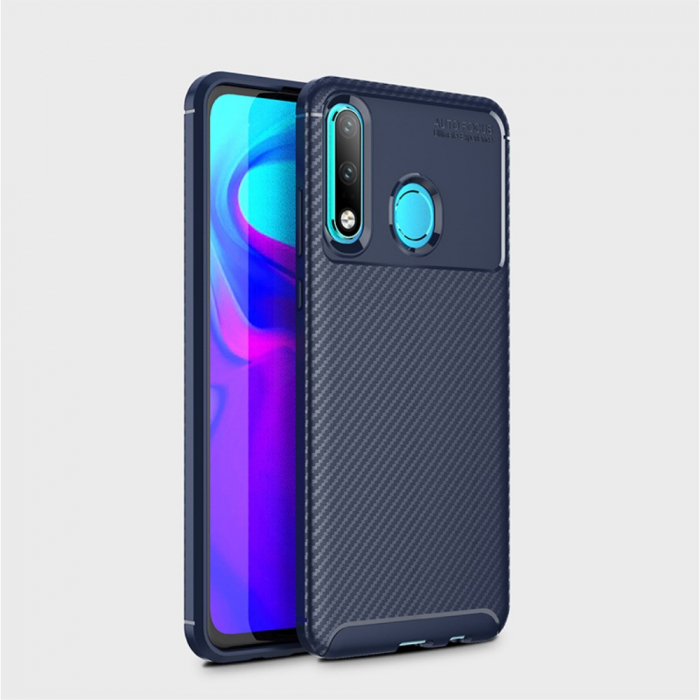 Husa silicon carbon 4 Huawei Psmart Z - Albastru 1