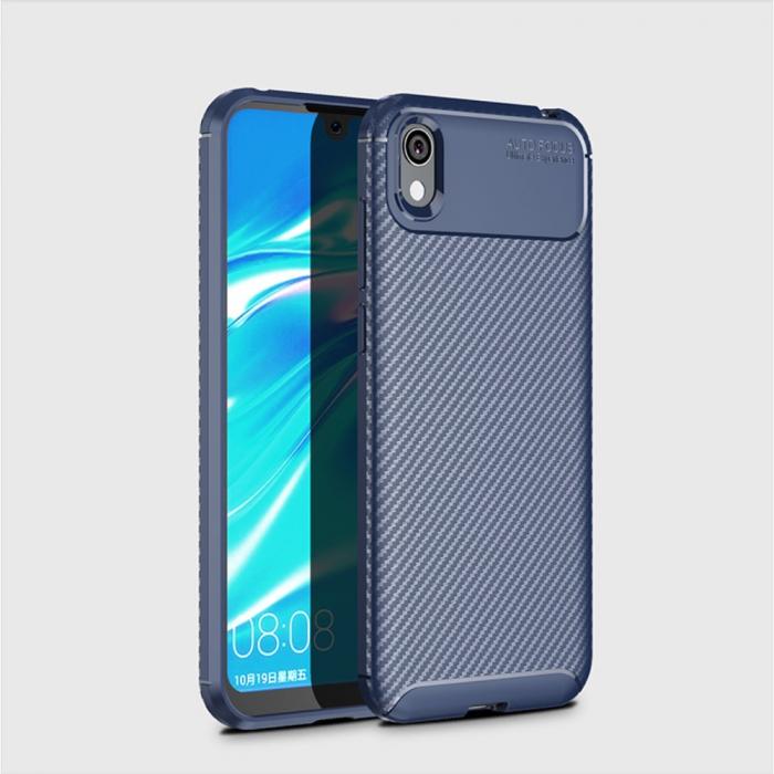 Husa silicon carbon 4 Huawei Y5 2019 - Albastru 1