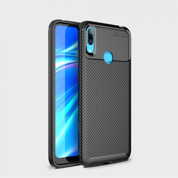 Husa silicon carbon 4 Huawei Y7 2019 - Negru [1]