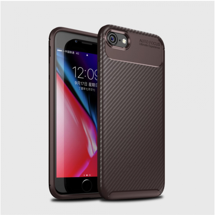 Husa silicon carbon 4 Iphone 7 - Maro 1