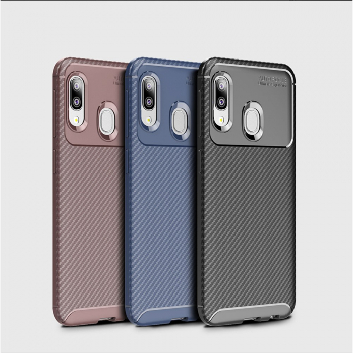 Husa silicon carbon 4 Samsung A20e - 3 culori 0