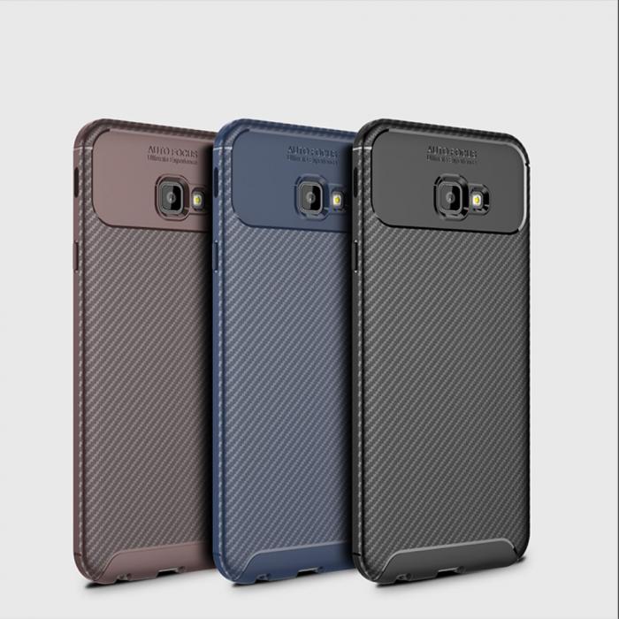 Husa silicon carbon 4 Samsung J4 plus (2018) - Maro 0