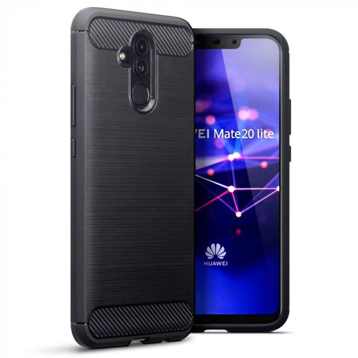 Husa silicon carbmat Huawei Mate 20 Lite 0