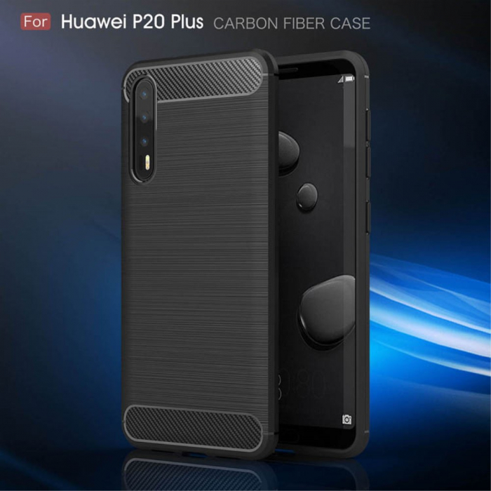 Husa silicon carbmat Huawei P20 Pro 0