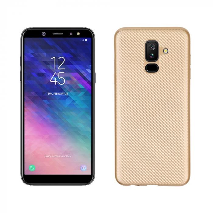 Husa silicon carbon Samsung A5/A8 (2018) - gold 0