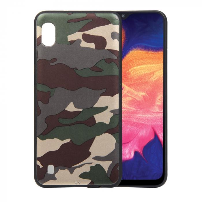 Husa silicon army Samsung A10, Verde 0