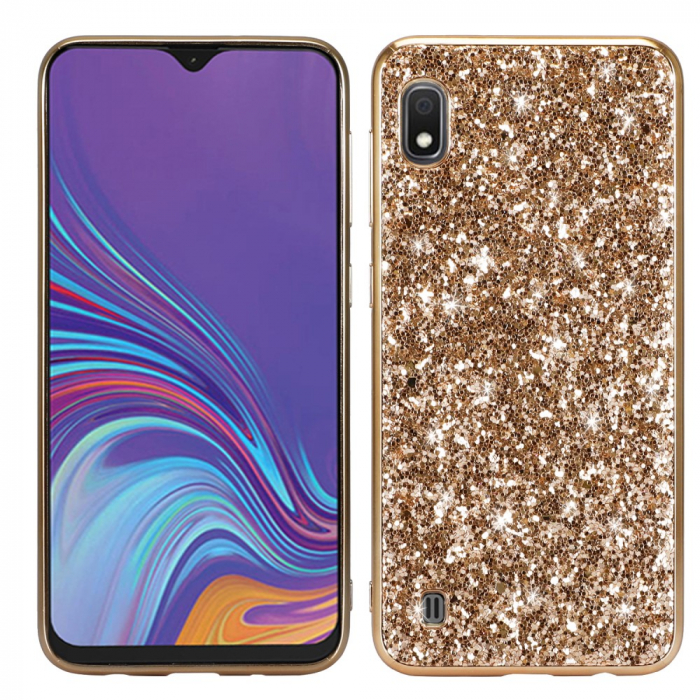 Husa silicon cu sclipici Samsung A10, Gold 0