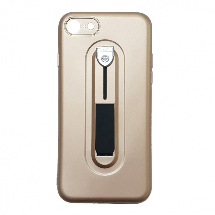 Husa silicon cu suport Iphone 7/8, Gold 0