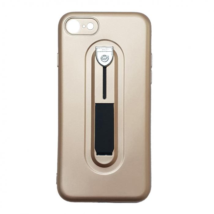 Husa silicon cu suport Iphone 7/8 plus, Gold 0