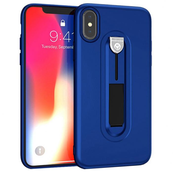 Husa silicon cu suport Iphone X/Xs, Albastru 0