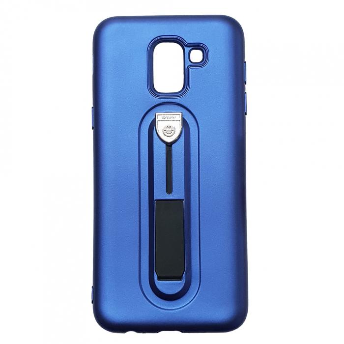 Husa silicon cu suport Samsung A5/A8 (2018) - Albastru 0