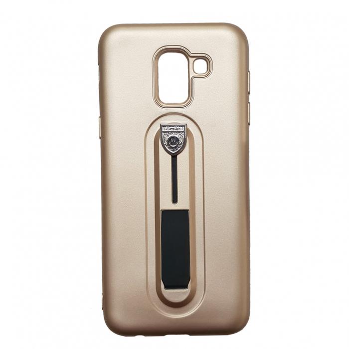 Husa silicon cu suport Samsung A5/A8 (2018) - Gold [0]
