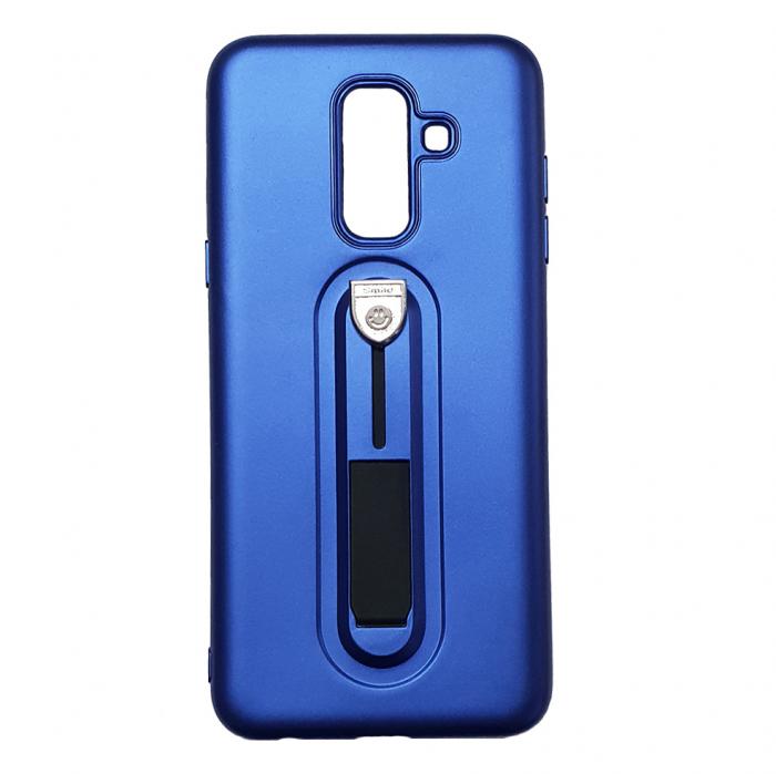 Husa silicon cu suport Samsung A6 plus (2018), Albastru [0]