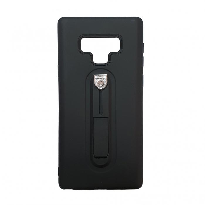 Husa silicon cu suport Samsung Note 9, Negru [0]