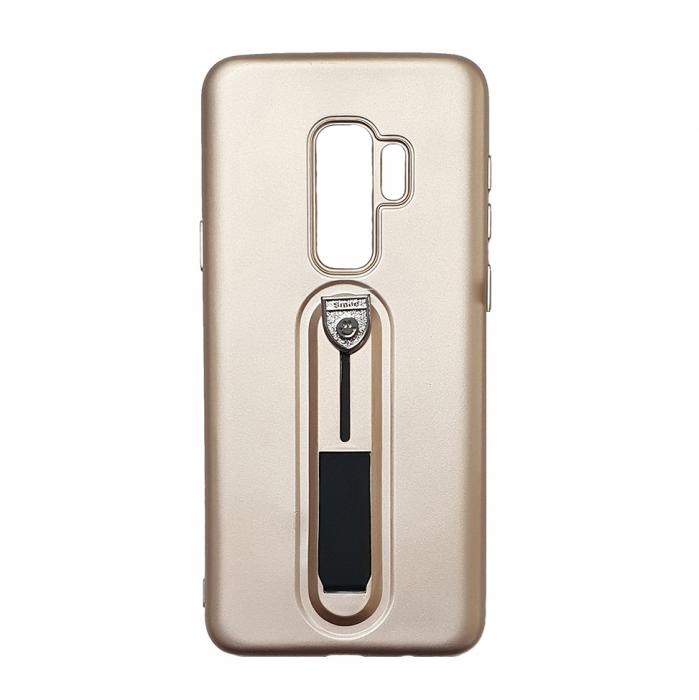 Husa silicon cu suport Samsung S9 - Gold 0