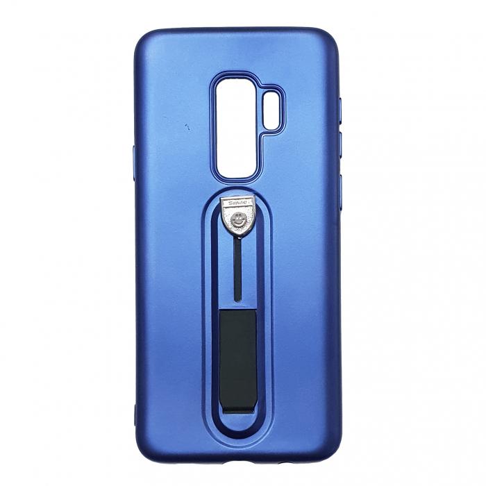 Husa silicon cu suport Samsung S9 plus - Albastru [0]