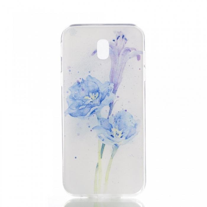 Husa silicon design matrita Samsung J5 (2017) - Floare albastra [0]