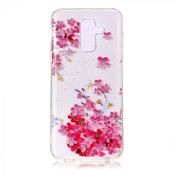 Husa silicon design printat Samsung A6 plus (2018) - Flori [0]