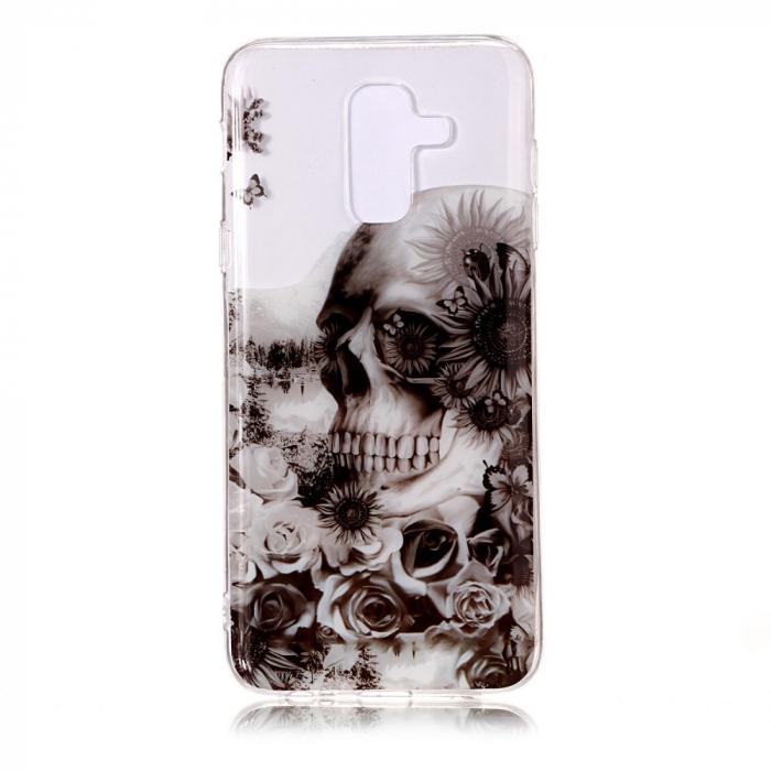 Husa silicon design printat Samsung A6 plus (2018) - Craniu 0