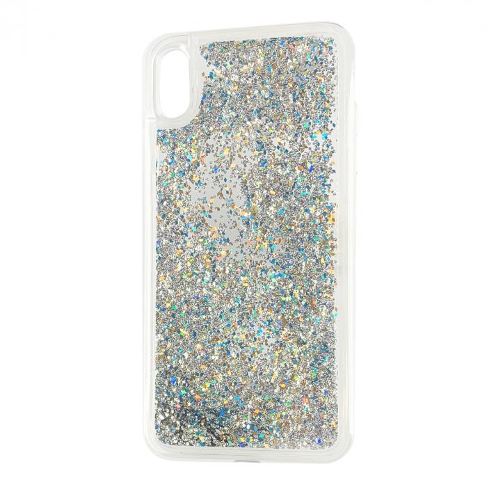 Husa silicon lichid-sclipici Iphone Xs Max -  Silver [0]