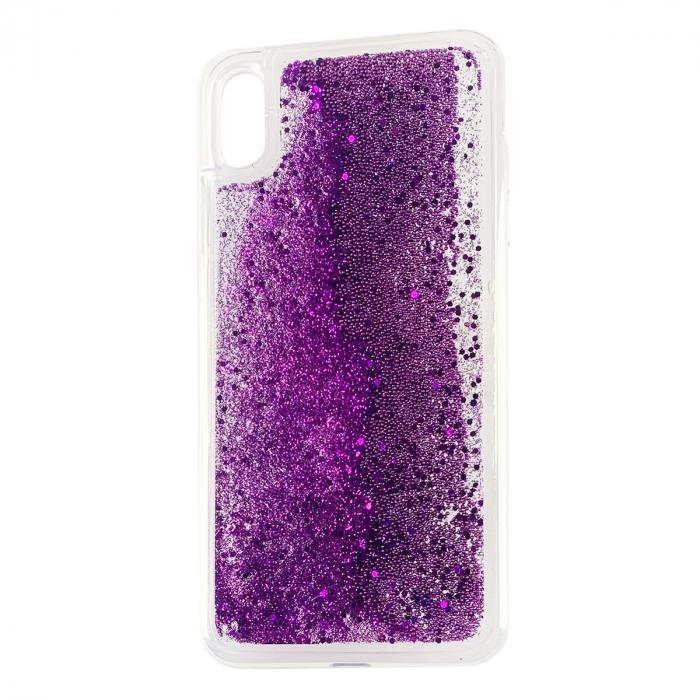 Husa silicon lichid-sclipici Iphone Xs Max -  Mov [0]