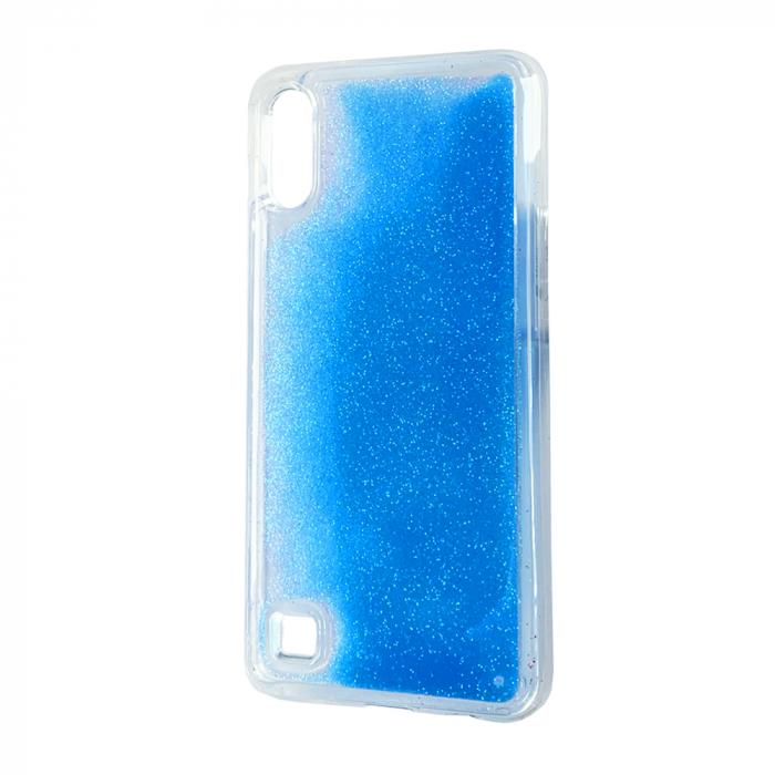 Husa silicon lichid-sclipici Samsung A10 - Albastru 0