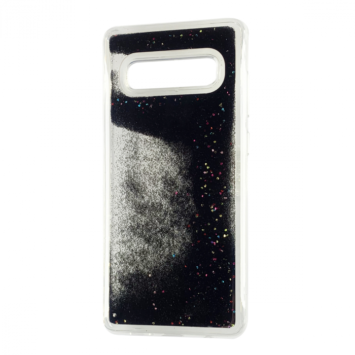 Husa silicon lichid-sclipici Samsung S10 - Negru [0]