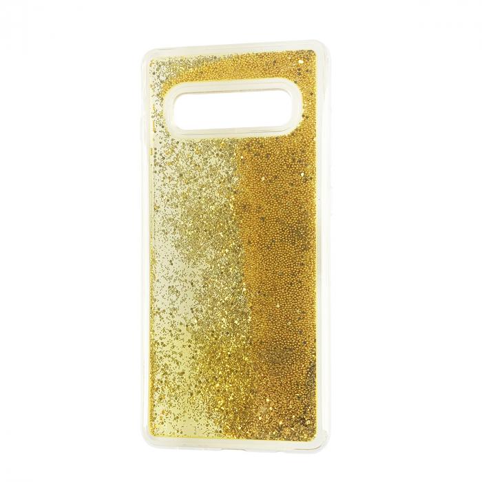 Husa silicon lichid-sclipici Samsung S10 plus - Gold 0